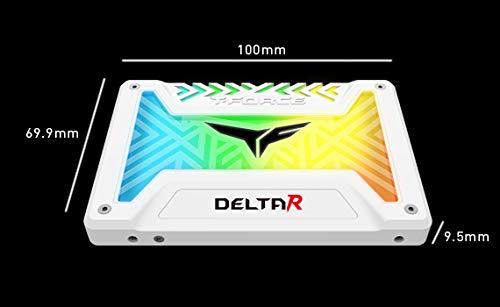 "Team Group T-FORCE DELTA 2.5"" 500GB SATA III Internal RGB Solid State Drive (SSD) - Black  "