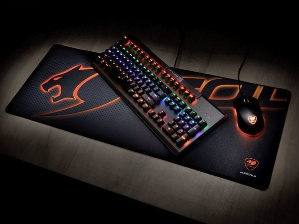 Arena Black Gaming Mouse Pad