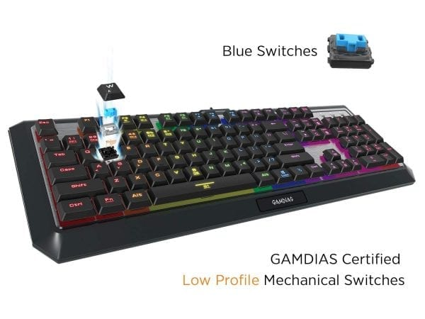Skydigital Nkeyboard Nkey-K1 RGB LED Mechanical Gaming Keyboard Wired Kailh Blue