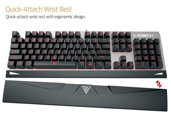 GAMDIAS Responsive Lighting Mechanical Gaming Keyboard with Demeter E2 Optical Mouse and NYX E1 Mouse Mat (HERMES E1)