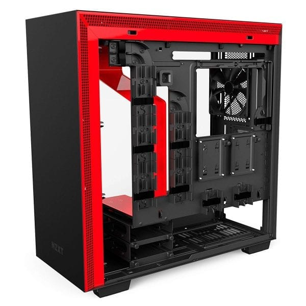NZXT H700i Mid-Tower Computer Case RGB lighting, Black/Red