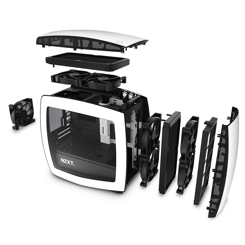 NZXT Manta Computer Case, White/Black - MINI ATX