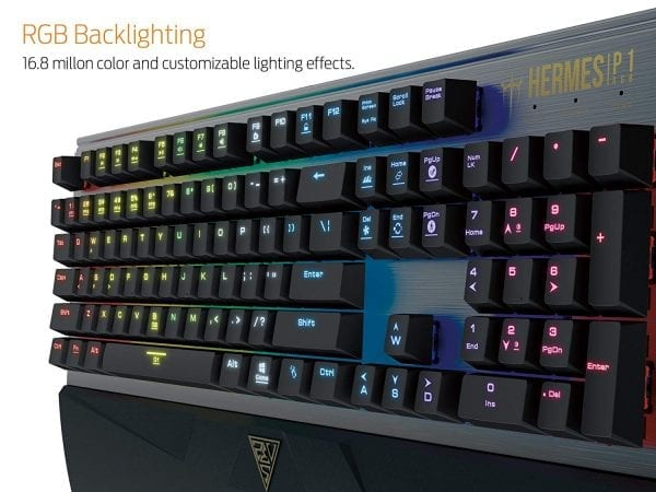 GAMDIAS RGB Mechanical Gaming Keyboard with 32bit Micro-Processor, 2 Macro Keys (HERMES P1)
