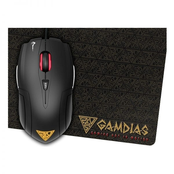 GAMDIAS Demeter E1 Gaming Mice with 3200 DPI, 6 Smart Buttons & Mouse Mat(Demeter E1)