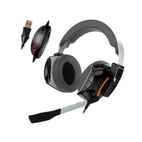 GAMDIAS Gaming Headset with 7.1 Virtual Surround Sound, Inline Remote, RGB Lighting (Hephaestus P1)